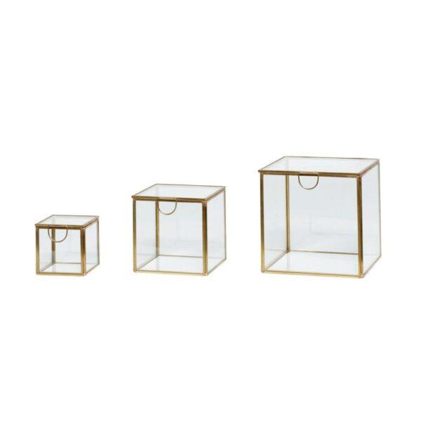 Glasboks fra Hübsch i glas og messing