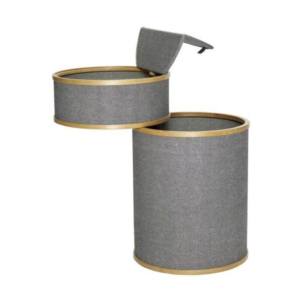 Vasketøjskurv fra Hübsch i grå