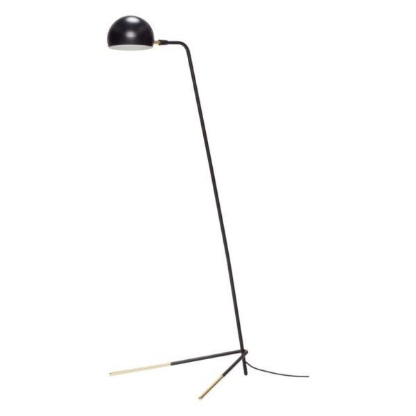 Gulvlampe fra Hübsch i sort og messing