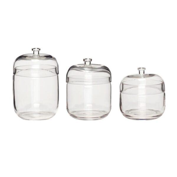 Opbevaringsglas fra Hübsch i klar