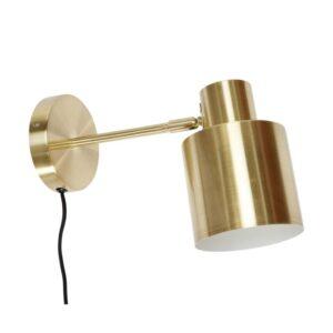 Væglampe fra Hübsch i messing