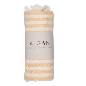 Kavun hamamhåndklæde stribet fra ALGAN i gul