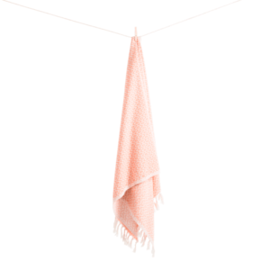 Sumak hamamhåndklæde fra ALGAN i melon 2 hvid baggrund