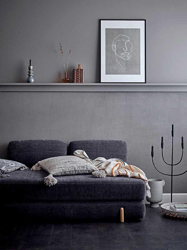 Bloomingville Irie vase i lys grå metal