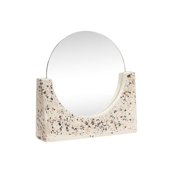 Bordspejl fra Hübsch i hvidnistret