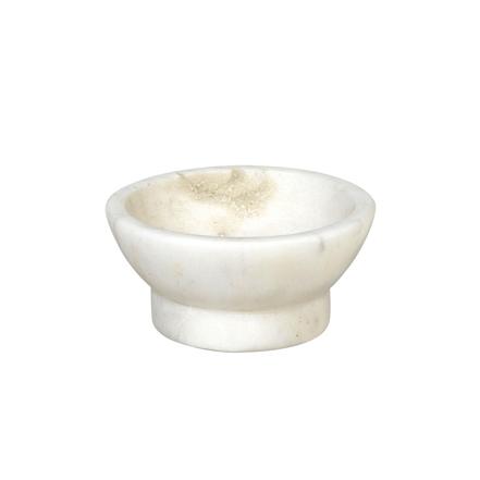 Broste Copenhagen Roald skål i hvid marmor