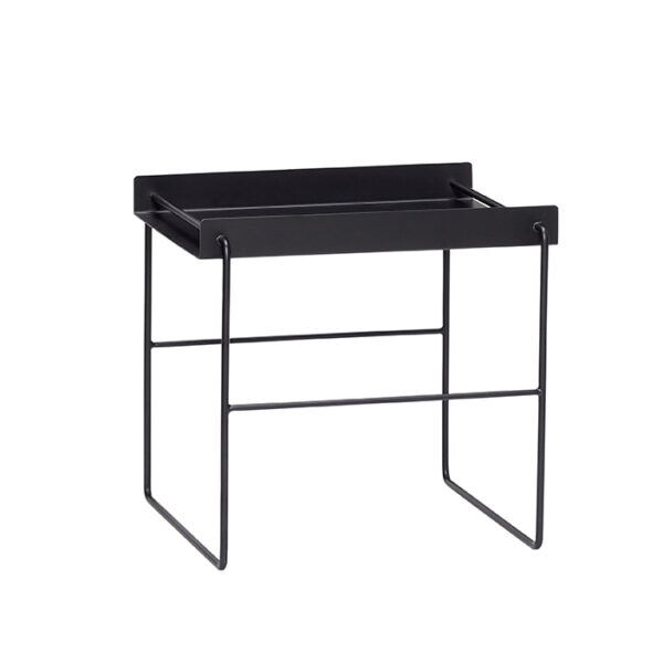 Firkantet bord fra Hübsch i sort