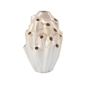 Lava vase fra Eden Outcast i hvid størrelse stor