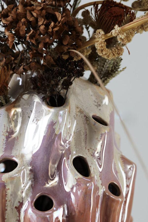 Lava vase fra Eden Outcast i rose i størrelsen stor