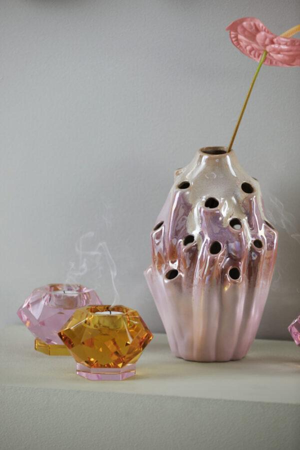 Lava vase fra Eden Outcast i rose størrelse lille