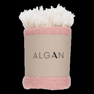 Nane gæstehåndklæde fra ALGAN i gammelrosa