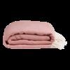 Nane plaid / sengetæppe fra ALGAN i gammelrosa