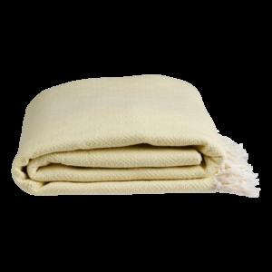 Nane plaid / sengetæppe fra ALGAN i gul