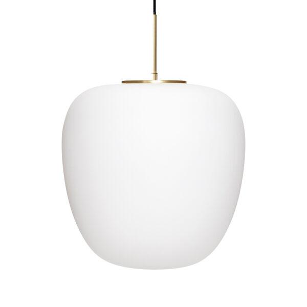 Pendel lampe opal hvid og messing Ø40 cm fra Hübsch