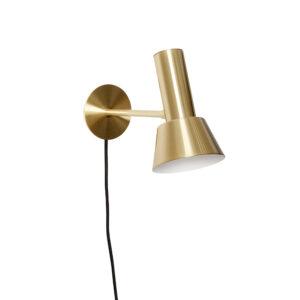 Væglampe fra Hübsch i messing og metal