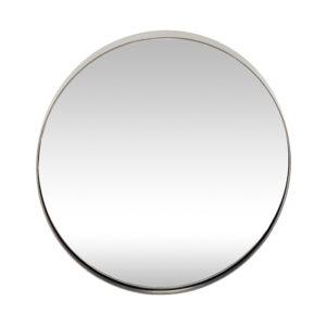 Vægspejl i rund fra Hübsch i grå