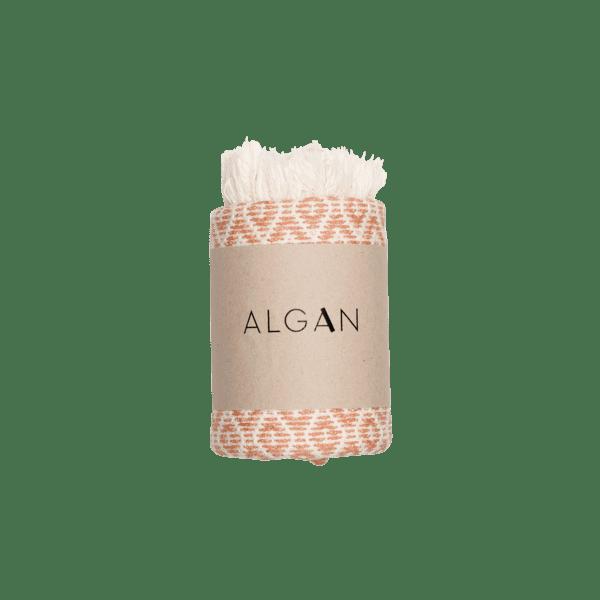 Sumak gæstehåndklæde fra ALGAN i melon