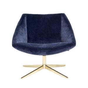 Elegant lounge stol fra Bloomingville i blå