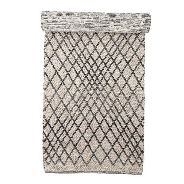 Kaya tæppe fra Bloomingville i grå