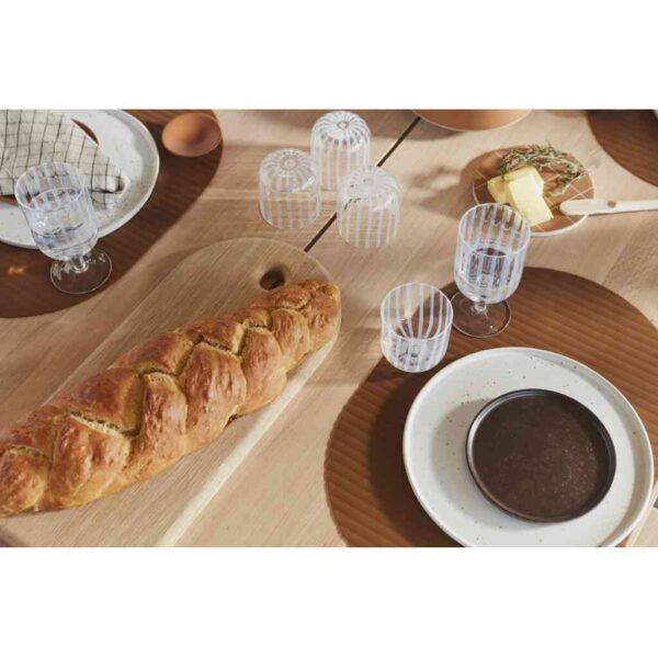 Inka lunch dessert tallerken fra OYOY i brun