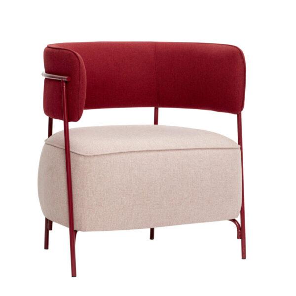 Loungestol fra Hübsch i lyserød og rød