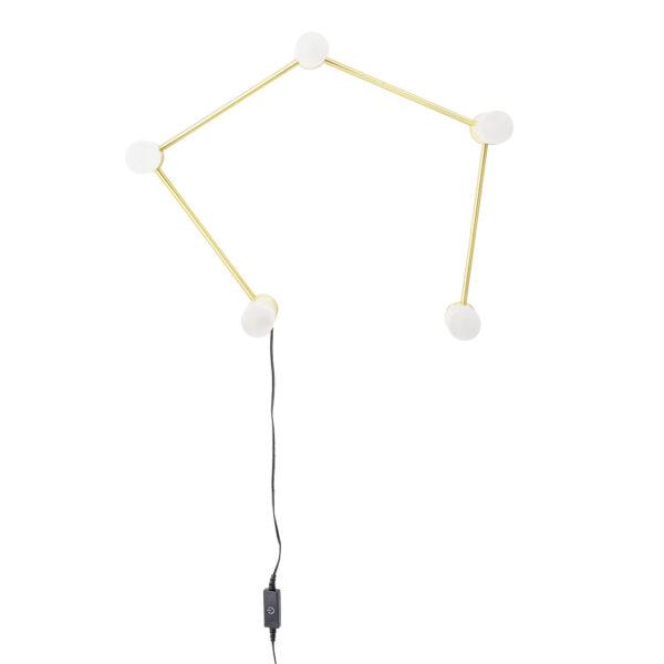 Bent bordlampe fra Bloomingville i guld