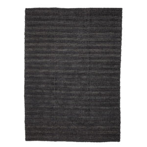Tæppe fra Bloomingville i sort