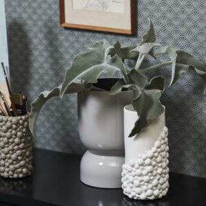 NAXOS vase fra Nordal i hvid størrelse stor