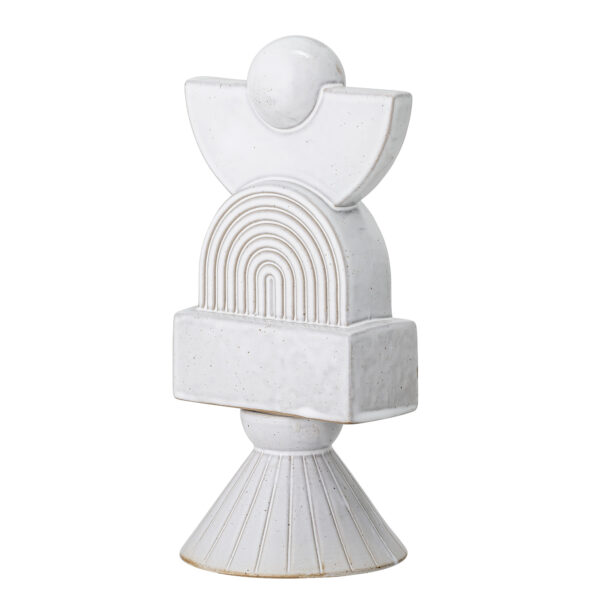 Skulptur fra Bloomingville i hvid