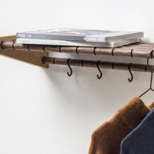 Moodrack hattehylde fra Roon & Rahn i natur med længden 98 cm
