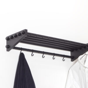 Moodrack hattehylde fra Roon & Rahn i sort med længden 78 cm