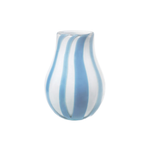 Ada stripe vase fra Broste Copenhagen i blå