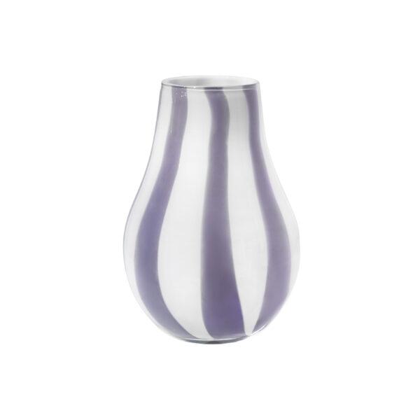 Ada stripe vase fra Broste Copenhagen i lilla