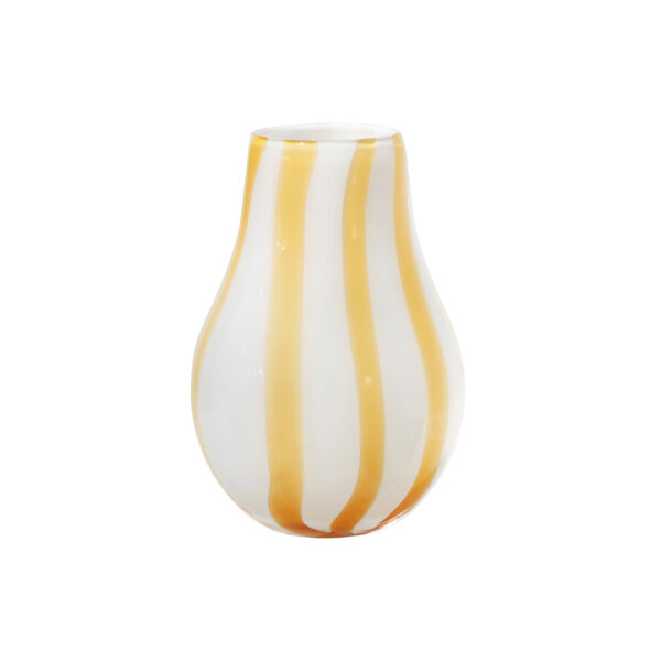 Ada stripe vase fra Broste Copenhagen i gul