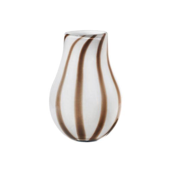 Ada stripe vase fra Broste Copenhagen i brun