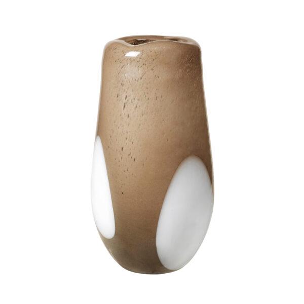 Ada dot vase fra Broste Copenhagen i brun stor