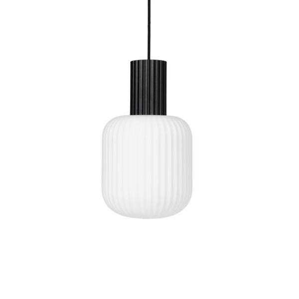 Lolly loftlampe fra Broste Copenhagen i sort og hvid i størrelse lille