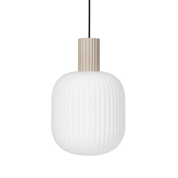 Lolly loftlampe fra Broste Copenhagen i sand og hvid