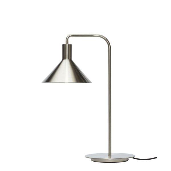 Bordlampe fra Hübsch i grå nikkel