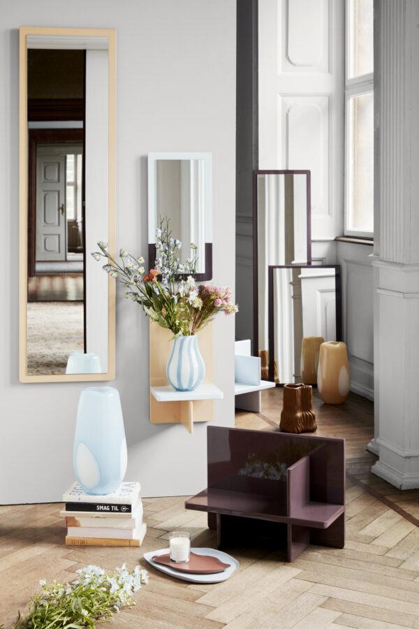 Ada dot vase fra Broste Copenhagen i blå stor