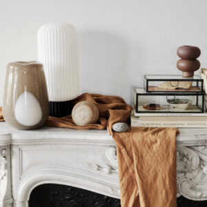 Ada dot vase fra Broste Copenhagen i brun