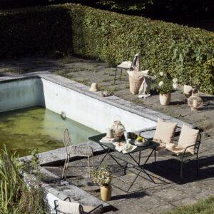 Frankie plaid fra Broste Copenhagen i gyldenbrun