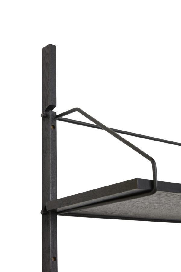 Hylde fra Hübsch i sort er lavet af ask og metal