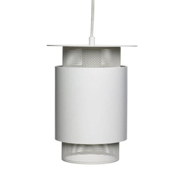 Lampe fra Hübsch i hvid metal