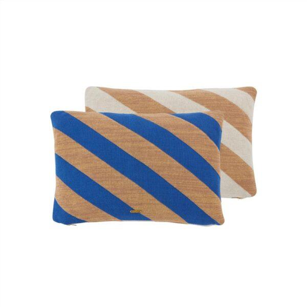 OYOY takara pude i blå og karamel
