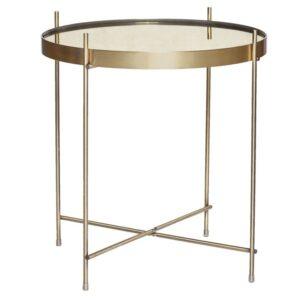 Rundt bord fra Hübsch i messing og spejl