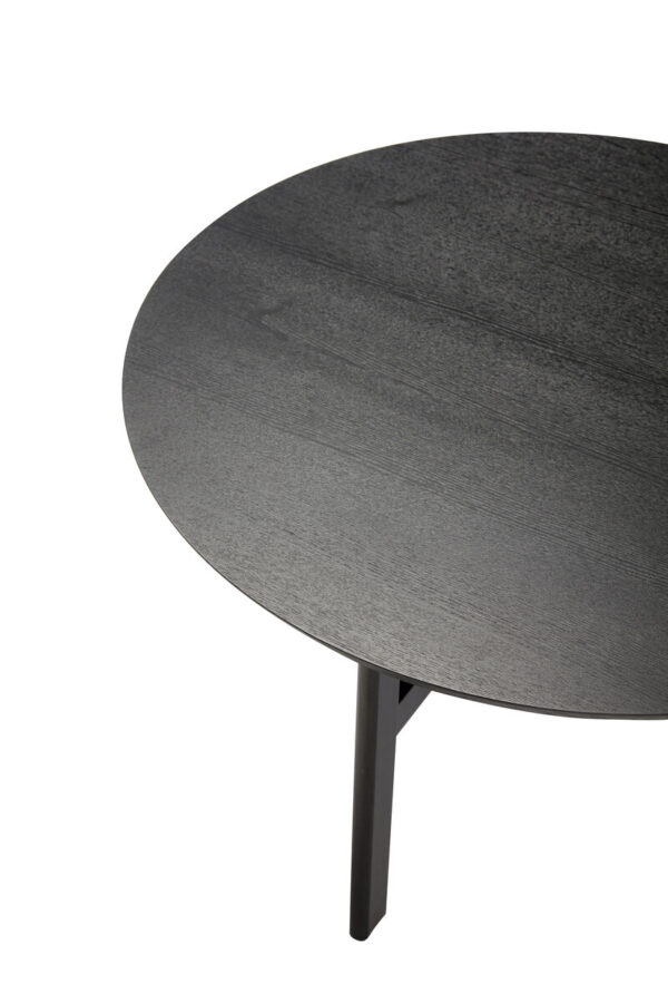 Rundt sofabord fra Hübsch i sort med Ø80