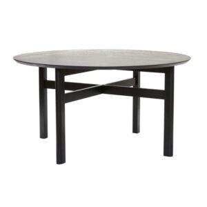 Rundt spisebord fra Hübsch i sort
