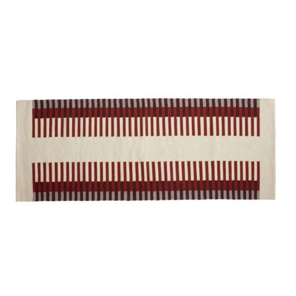 Tæppe fra Hübsch i beige, rød, grå og orange