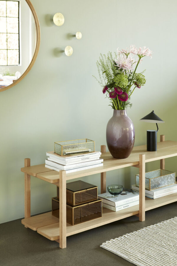 Vase fra Hübsch i lilla og brun